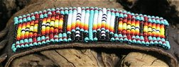 beaded leather flute wrap