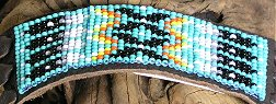 Leather beaded flute wrap